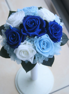 青と水色のブーケ