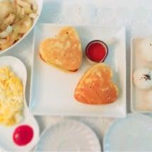 朝パンケーキ。