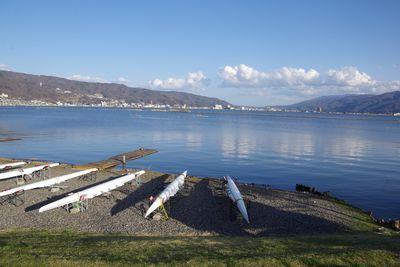 諏訪湖&桜