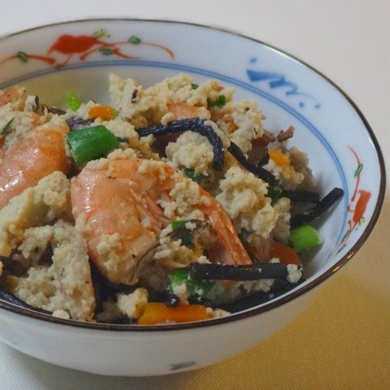 高野豆腐で炒り豆腐
