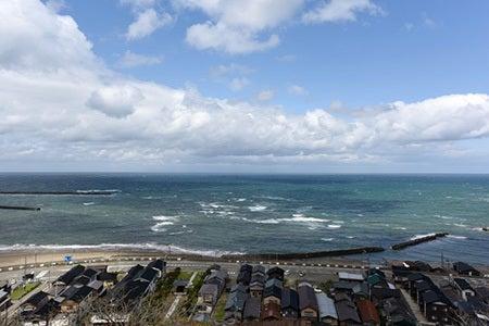 日本海と佐渡の景観