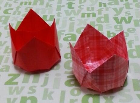クリスマス 折り紙 チューリップ 折り紙 : ameblo.jp