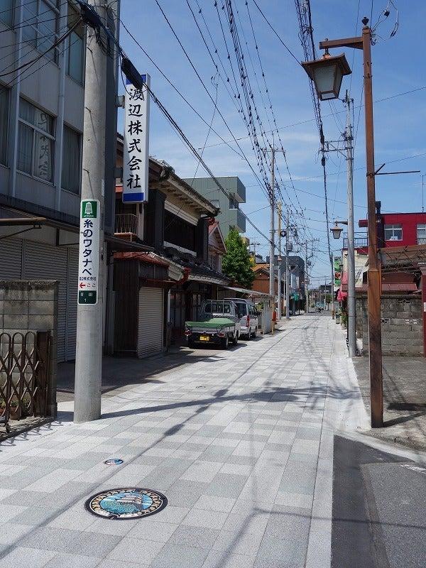 日和cafe前の北谷通り(きたやどおり)