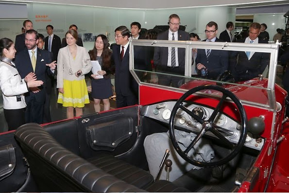ステファニー妃 上海訪問