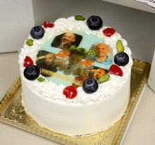 自作写真ケーキ