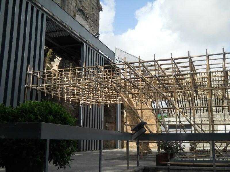 聖ポール天主堂の裏側の木組み