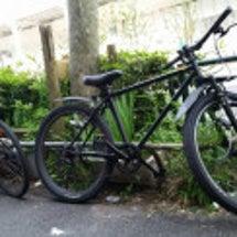二人で自転車通勤!!…
