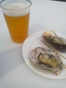 ビールと牡蠣焼き