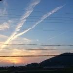 熊本 複数本のHAARP照射で立ち昇った地震雲1