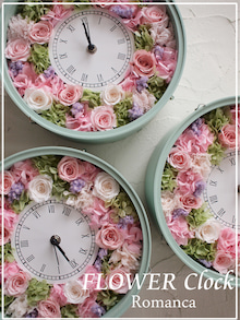 パステルカラーの花時計
