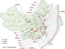 中国の原発地図