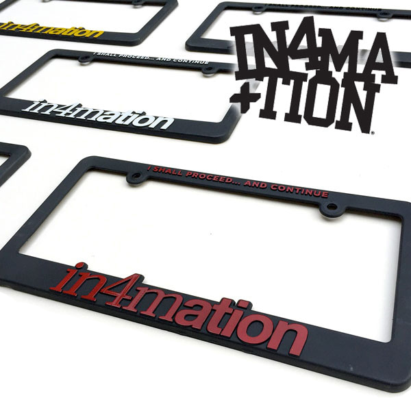 IN4MATION License plate