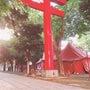 花園神社からの長野到…