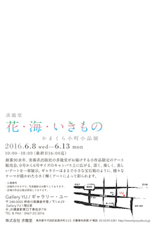 鎌倉、かまくら小町、花、海、いきもの、求龍堂、DM