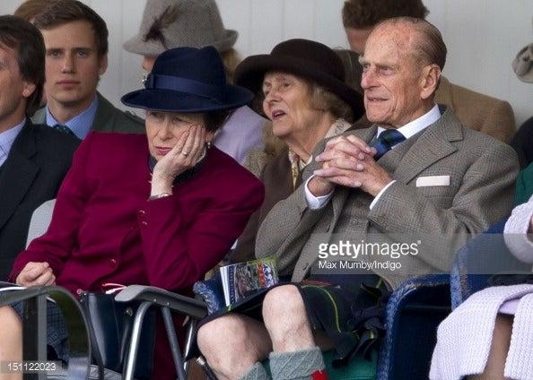アン王女 父フィリップ殿下と