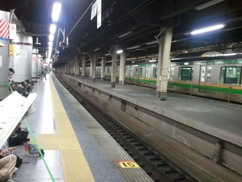 上野駅の朝 13番線