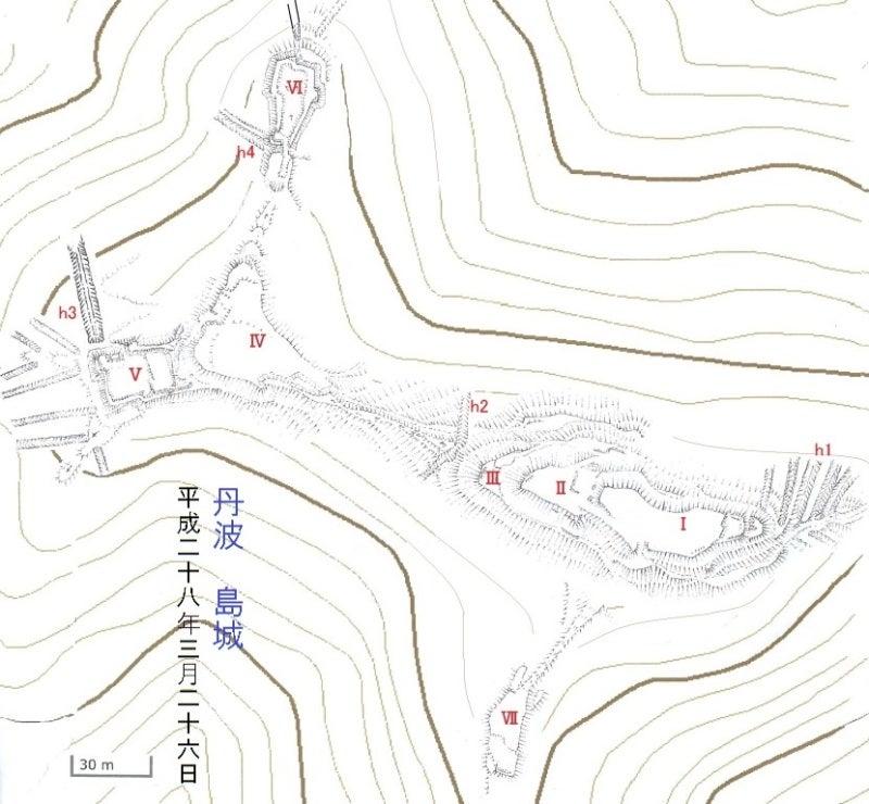 島城縄張図