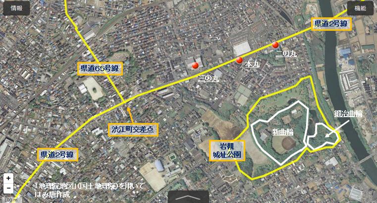 岩槻城址公園の位置