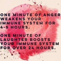 免疫と怒りと笑いの関…