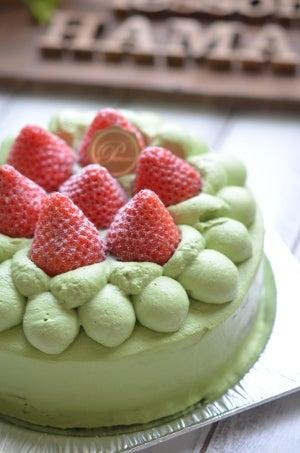 苺と抹茶のケーキ 大阪
