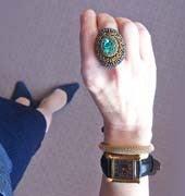 アバロンビーズ刺繍リング/指輪