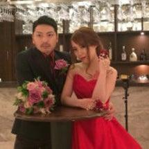 お色直し♪赤ドレス
