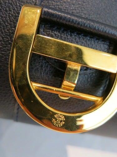 DELVAUX  デルボー ブリヨン MM 2way ハンドバック 紺