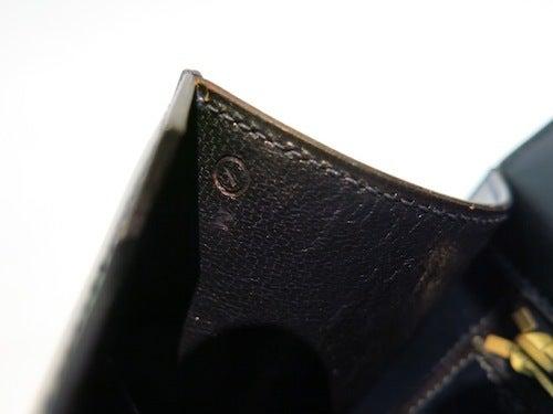 HERMES ヴィンテージ エルメス ソローニュ 1979年製 ショルダーバック 紺