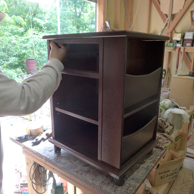 オーダー木製家具クラシックスタイルのサイドワゴン