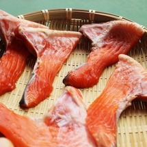 自家製鮭の干物