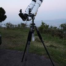 望遠鏡を双眼鏡に改造…
