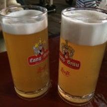 夏だ!ビールだ♡ 笑
