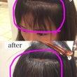 前髪カールストレート…