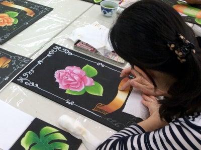 仙川カルチャーセンターチョークアート教室様子5