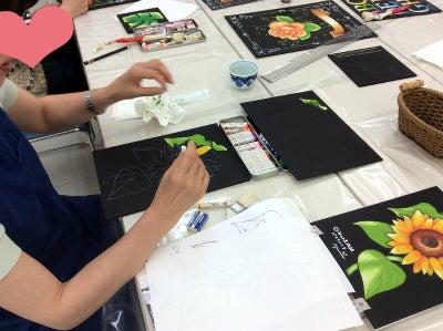 仙川カルチャーセンターチョークアート教室様子2