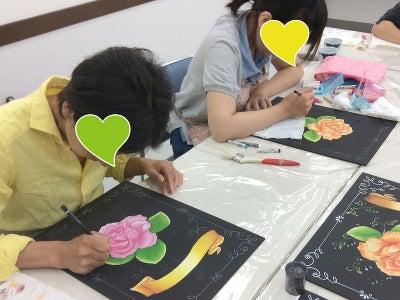仙川カルチャーセンターチョークアート教室様子4