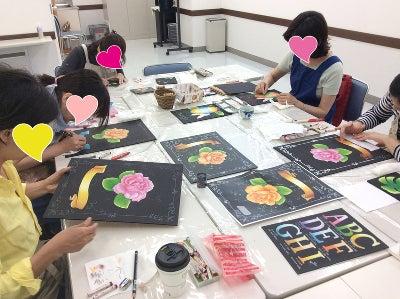 仙川カルチャーセンターチョークアート教室様子1