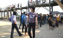 ミャンマー,マンダレー旅行,ウーベイン橋