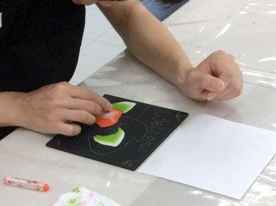 仙川カルチャーセンターチョークアート講座の様子2