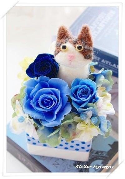 札幌 プリザーブドフラワー 猫