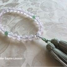 天然石の数珠の作り方…