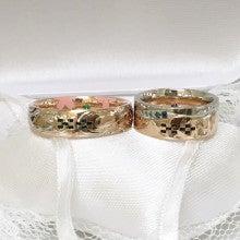 沖縄ミンサー柄結婚指輪むすび1