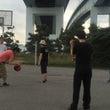 バスケ対決