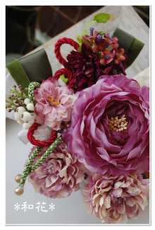 アンティークカラー 和の髪飾り 和装髪飾り 花嫁