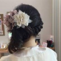 結婚式のまとめ髪