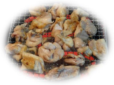 鶏もも肉網焼き