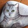 石に猫を描く。トール…