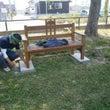 日米友好のベンチ