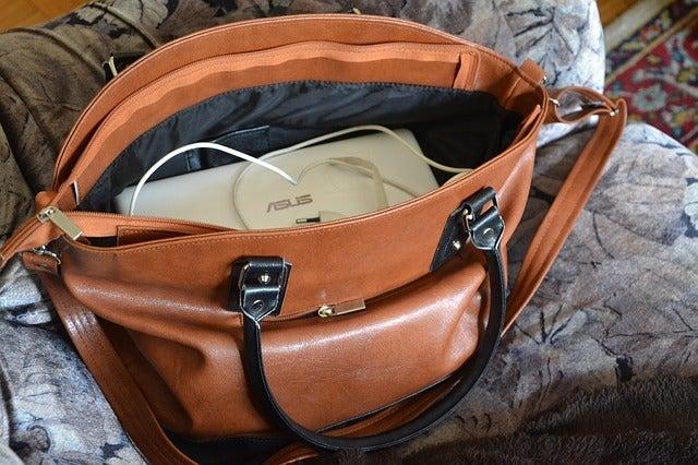 パソコンがそのまま入ったバッグ