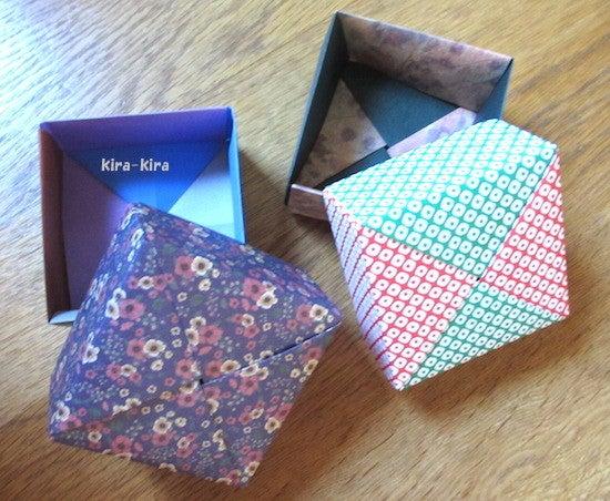 折り 折り紙 : 折り紙 箱 ふた : ameblo.jp